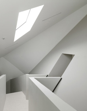 Tilted Skylight with Pure White Interior