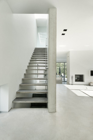 Minimalist Concrete Staircase