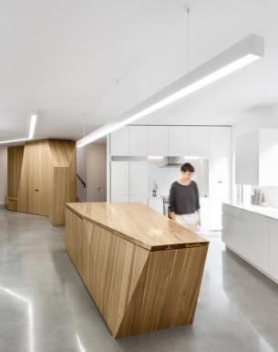 Wooden Sculpture Kitchen Island