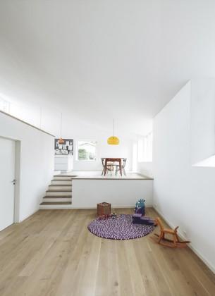 Loft-like Minimalist Living Space