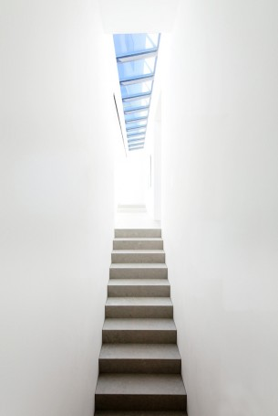 Minimalist Staircase and Skylight