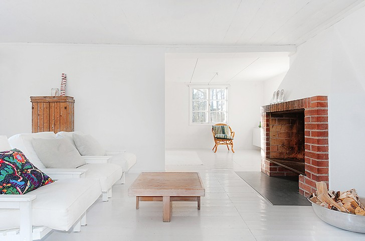 Minimalist White Summer House in Sweden Mikael Beckman 2