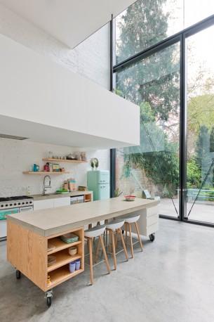 Mobile Concrete Kitchen Island
