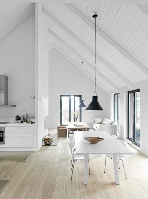 White interior Dining