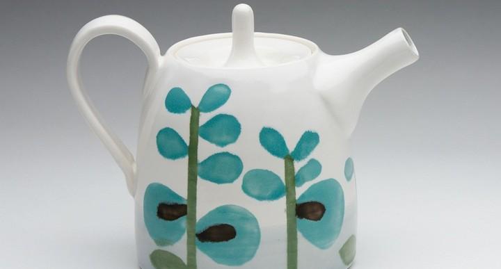 绿松石彩釉茶壶
