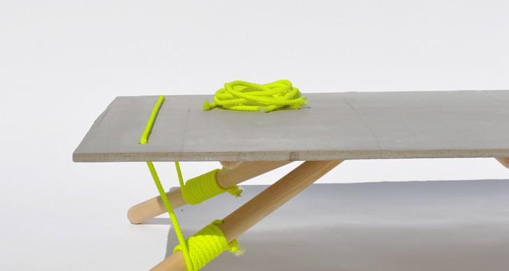 绳子绑桌案