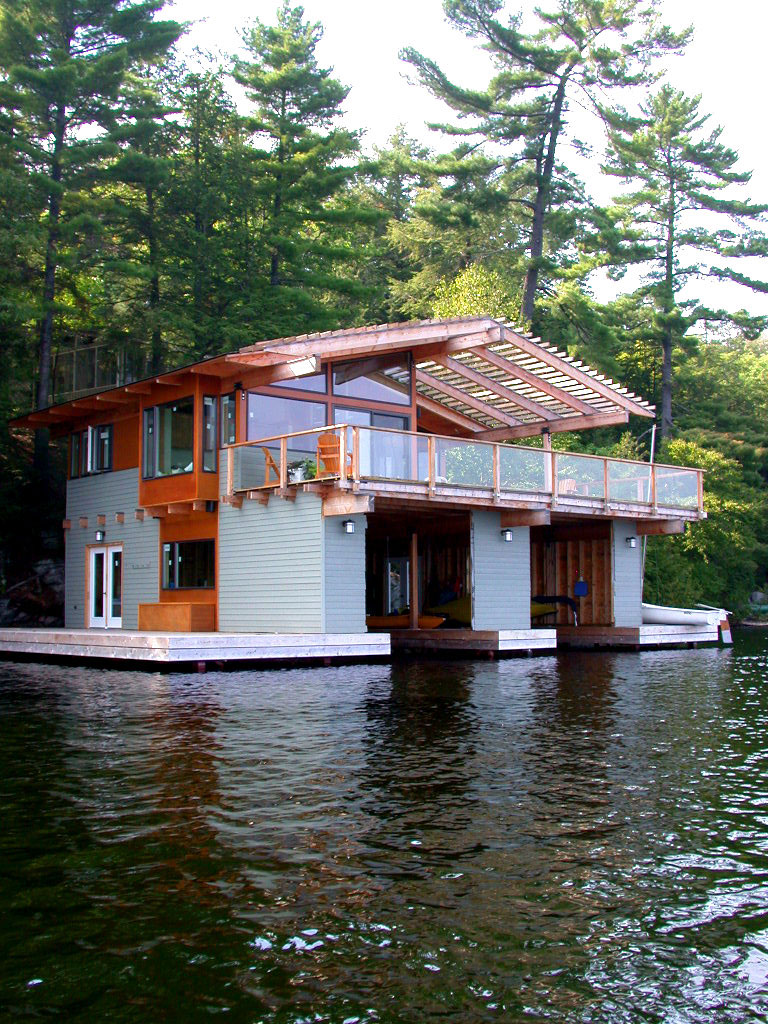 Acton island boathouse altius architecture ideasgn for Boat house plans pictures