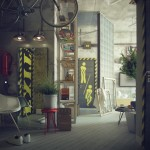 Casual Loft Style Living interior-design Maxim Zhukov Industrial-style-decor