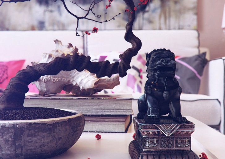 Chinese Inspired Interiors 3D Artwork by Romi3d