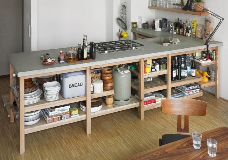 Oak Kitchen Concrete / Rainer Spehl