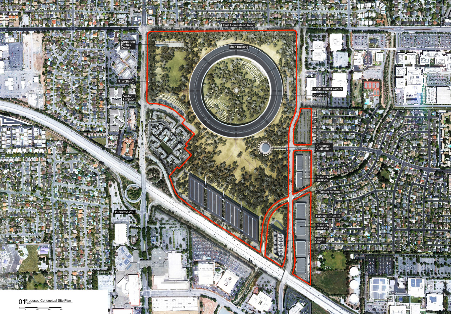 apple campus 2 by foster partners plan 1 ideasgn. Black Bedroom Furniture Sets. Home Design Ideas