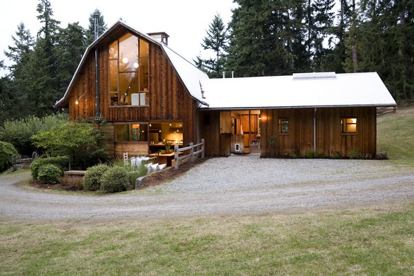Barn conversions whidbey island shed architecture for Converting a pole barn into living space