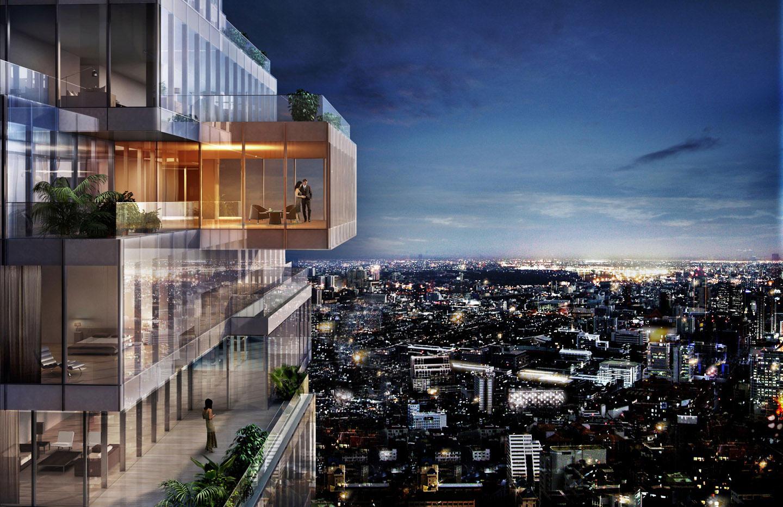 Mahanakhon ritz carlton residences bangkok by ole scheeren for Bangkok architecture