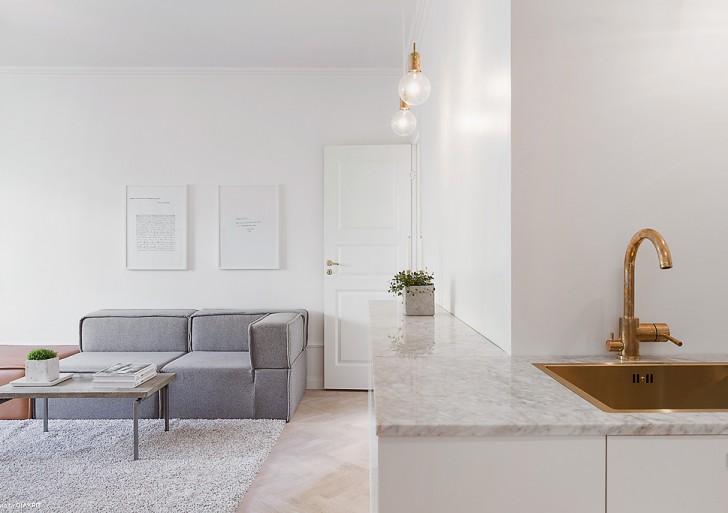 Modern Scandinavian apartment in Stockholm