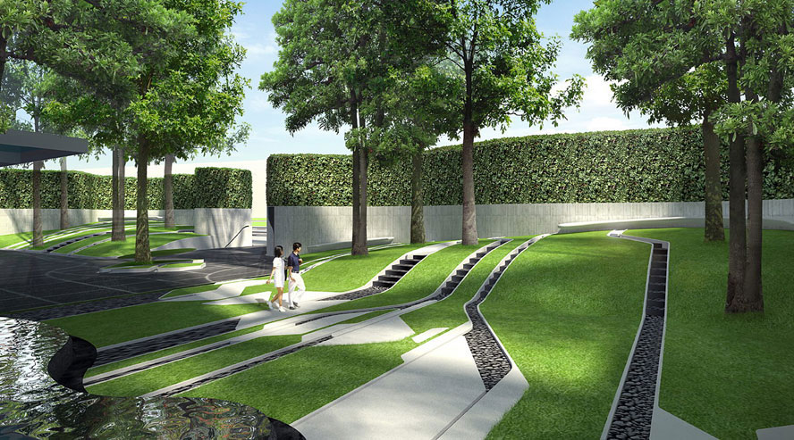 The pool pyne by sansiri by trop terrains open space for Spaces landscape architecture
