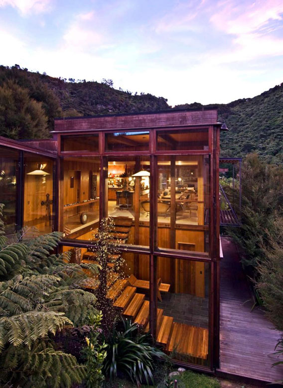 Waterfall Bay House New Zealand by Bossley Architects 015