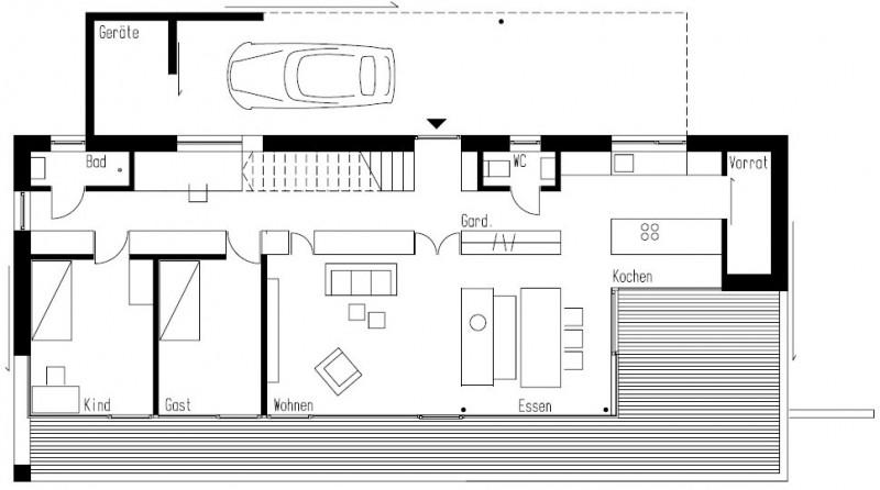 Weinfelden house by k m architektur plan 01 ideasgn - Architektur plan ...