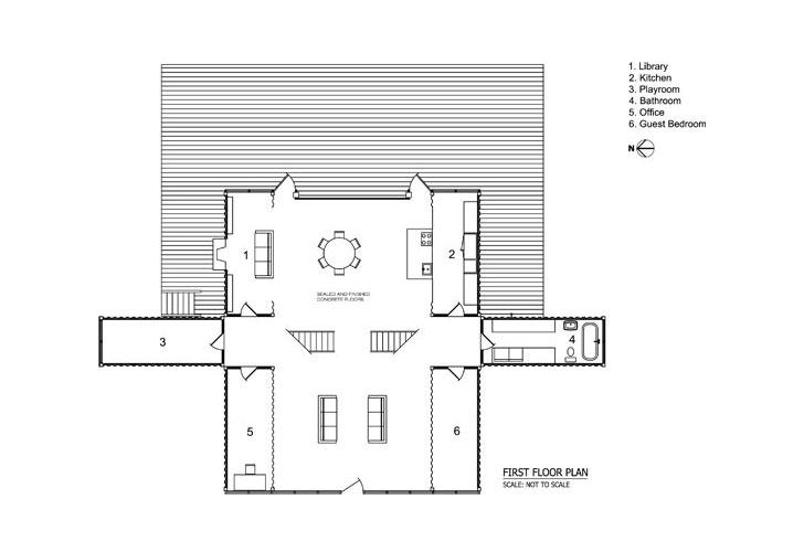 Adam kalkin container house floor plan home design and style for 12 container house floor plan