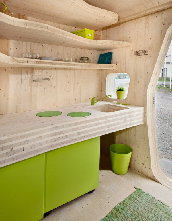 Eco-friendly Smart student units Tiny House idea+sgn by  Tengbom for AF Bostäder 8