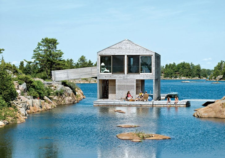 Floating House in Lake Huron / MOS Architects