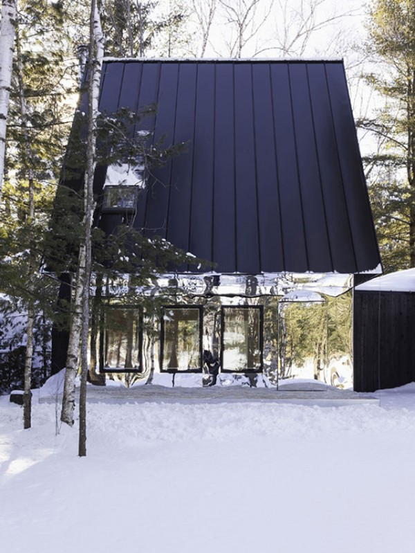 Kawartha Lake Cottage With Mirrored siding idea+sgn in Canada by UUfie 2