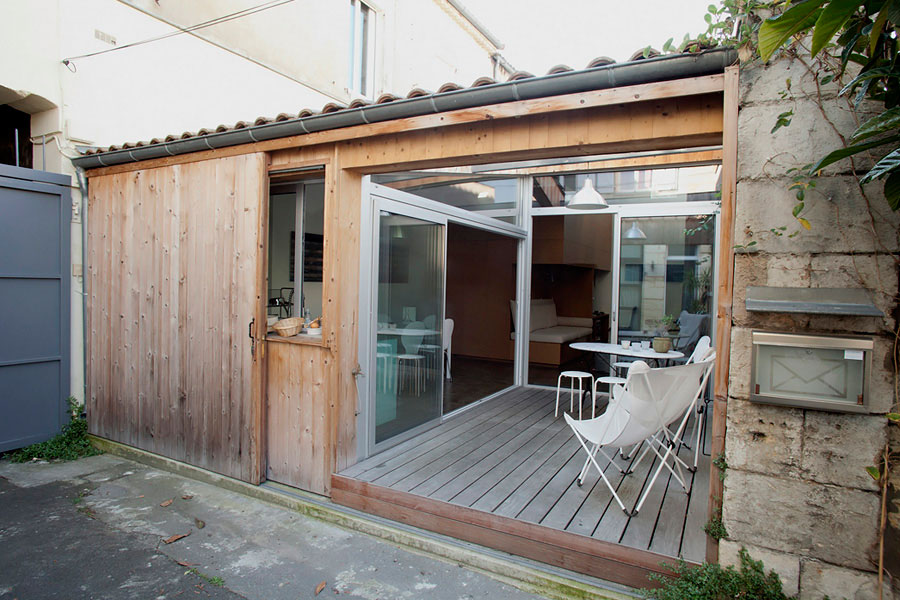 Passage buhan transformation of a garage into a single for Transformation garage en logement