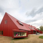 Red Youth Center in Roskilde Denmark Conversion idea+sgn by Cornelius+ Voge