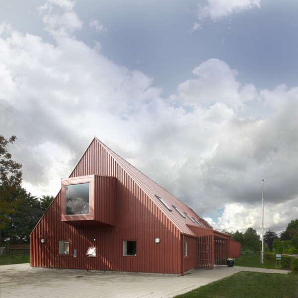 Red Youth Center in Roskilde Denmark Conversion idea+sgn by Cornelius+ Voge 6