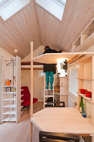 Smallest house in sweden by af bostader at ideasgn 10 for Piani mezzanine garage