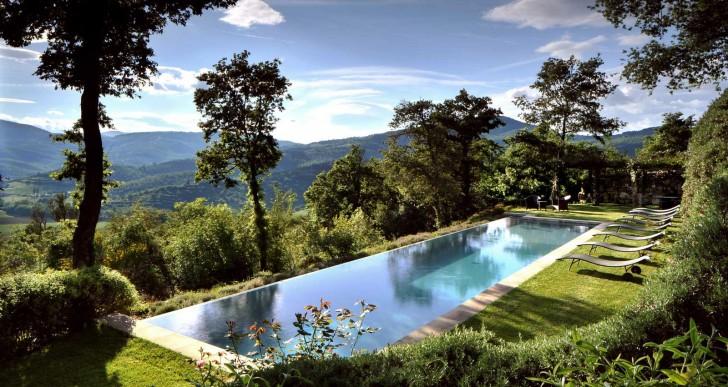Villa Arrighi from Castello di Reschio