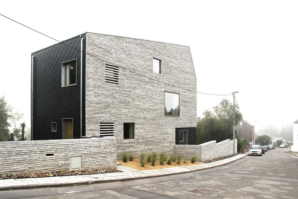 Wall House Idea Sgn In Belgium By Androl Architecture 11