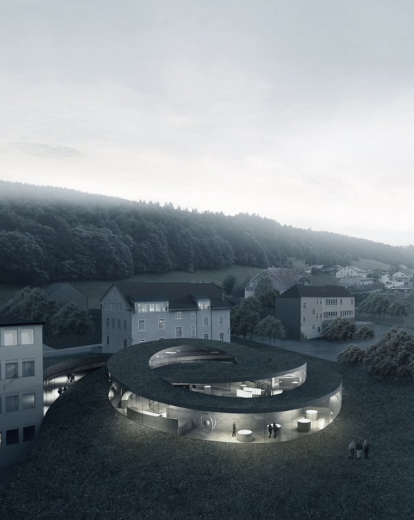 Audemars piguet museum by big ideasgn for Architecture courbe