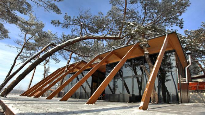 Forest Cottage in Ukraine by NOTT design studio