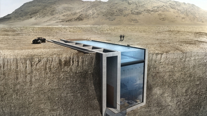 Cliffside Earth Sheltering Casa Brutale by OPA