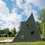 Triangular Summerhouse by Leo Qvarsebo