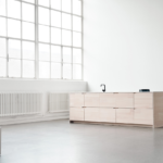 Minimalist Kitchen UP by Lendager Group